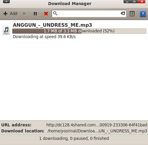 Install Steadyflow Download Manager di Ubuntu Lucid Lynx